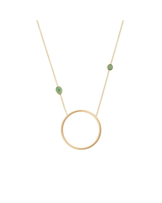 Oliver Bonas - Metallic Tinde Large Circle Gold Plated Necklace - Lyst
