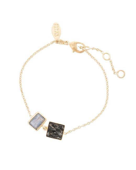 Oliver Bonas - Metallic Jessa Square Stone Bracelet - Lyst