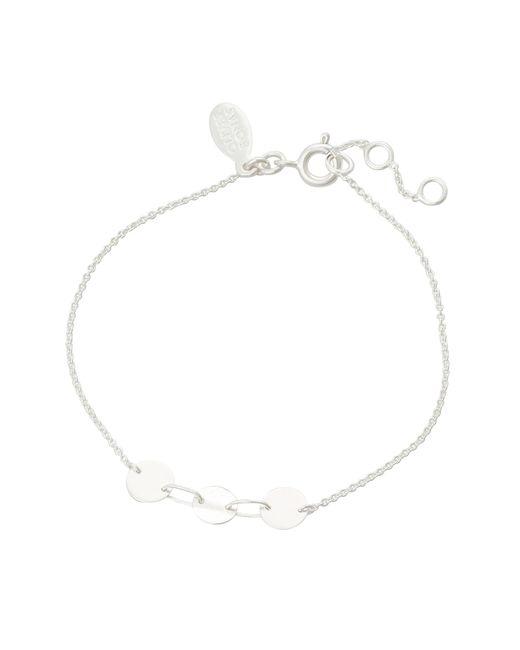 Oliver Bonas - Metallic Ndee Interlinked Circles Silver Bracelet - Lyst