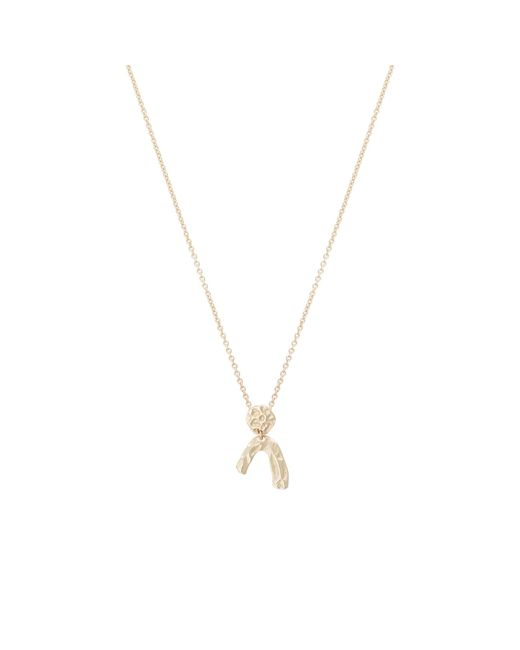 Oliver Bonas - Metallic Chico Textured Mini Shapes Gold Plated Necklace - Lyst