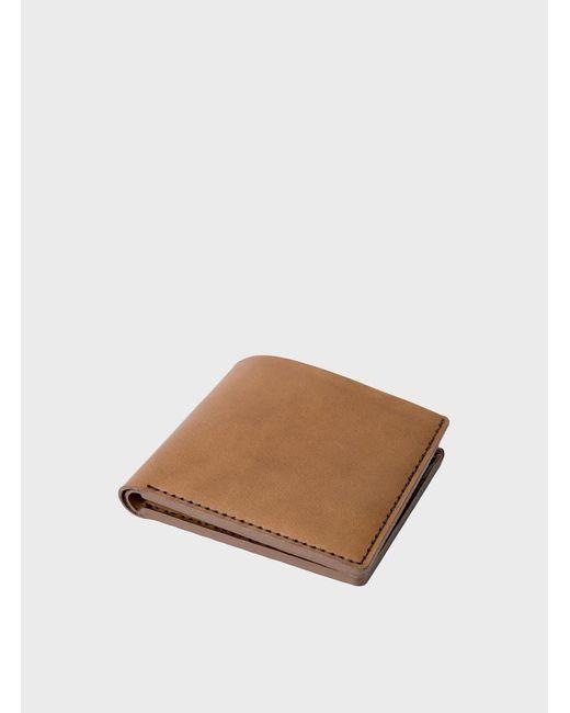 Makr   Brown Tobacco Open Billfold Wallet for Men   Lyst