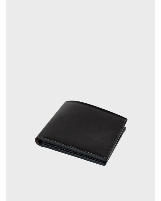 Makr | Black Open Billfold Wallet for Men | Lyst