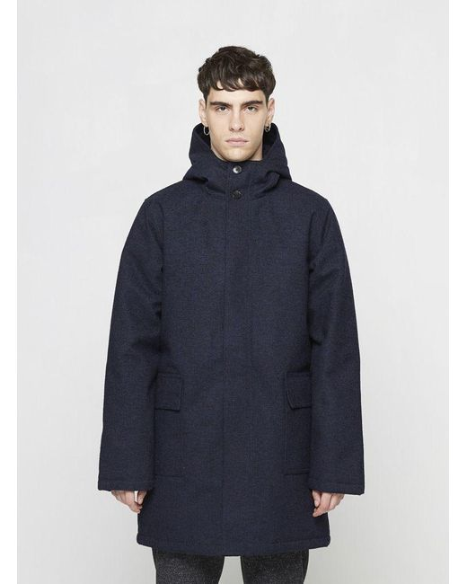 La panoplie Navy Long Parka in Blue for Men | Lyst