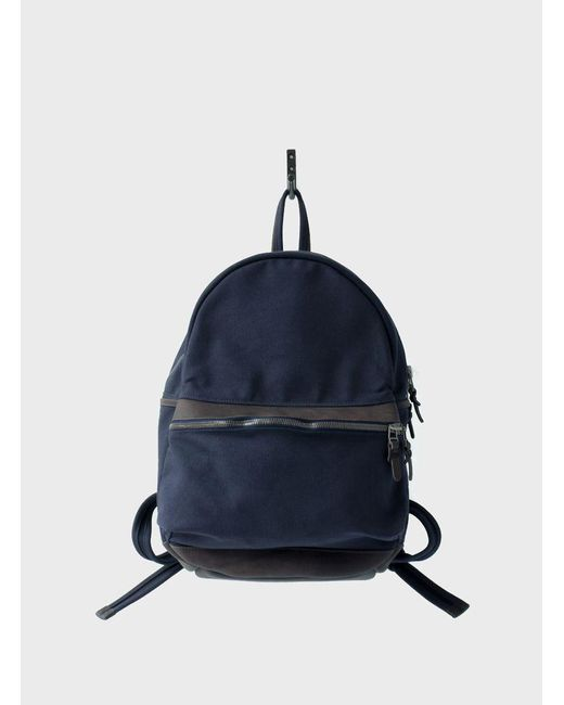 Makr | Blue Navy Round Backpack for Men | Lyst