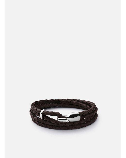 Miansai | Sterling Silver Trice Bracelet - Brown for Men | Lyst