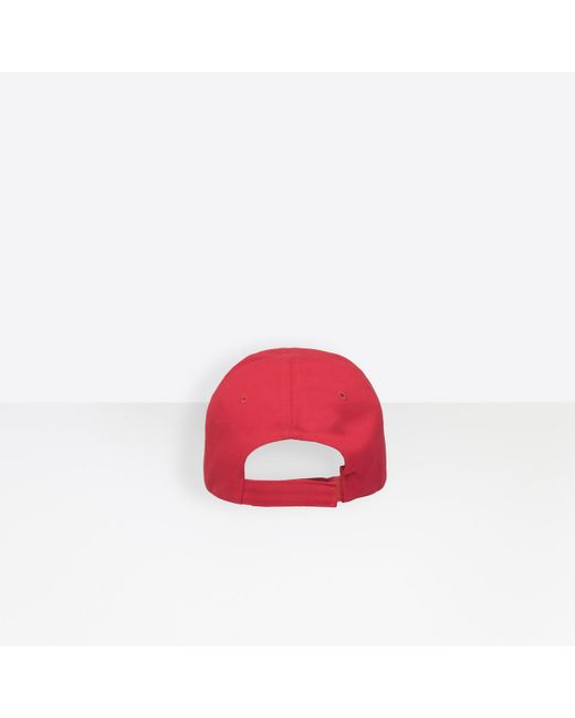 b4662b68e563fa ... Balenciaga - Femme Embroidered Cotton Cap - Lyst ...