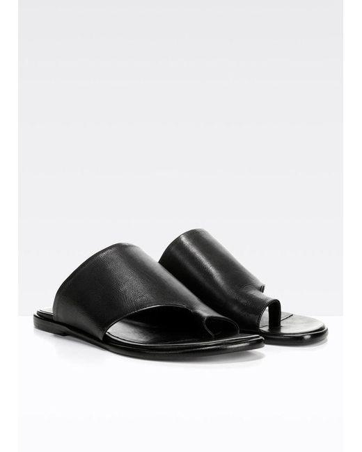 79e226b08c57 ... Vince - Edris Sandal Black Leather - Lyst ...