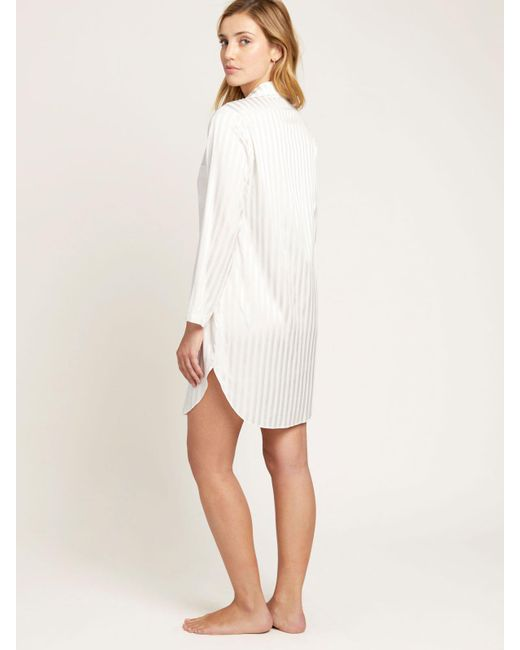 ... Morgan Lane - White Jillian Night Shirt In Blanc - Lyst ... 49975fd3e