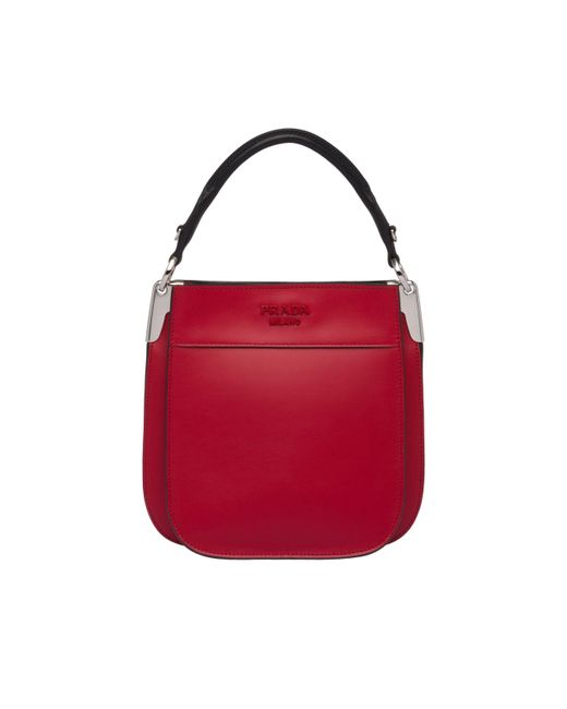 26c417defb49 ... Prada - Red Margit Small Leather Bag - Lyst ...