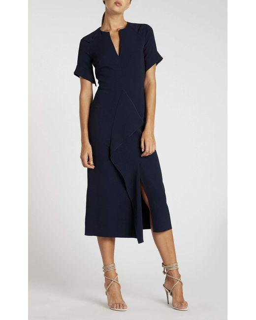 19eab32446e Roland Mouret - Blue Tresta Dress - Lyst ...