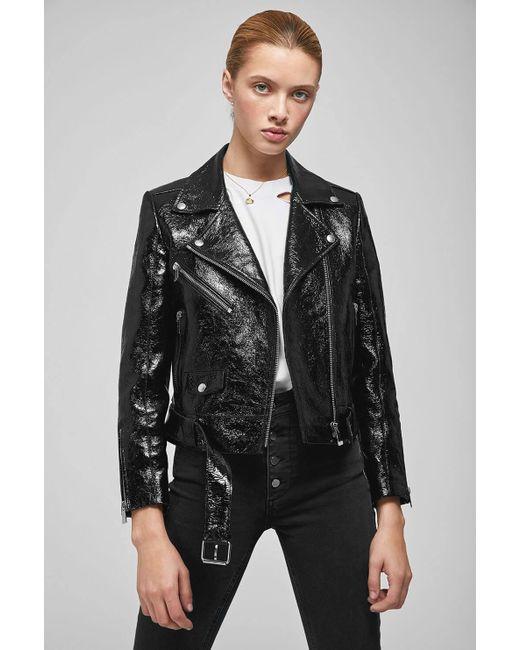 Anine Bing - Jett Leather Jacket - Black Patent - Lyst