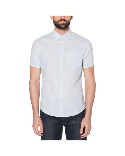 Original Penguin - White Dobby Micro Check Shirt for Men - Lyst