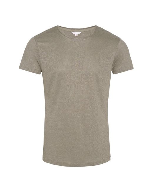 Orlebar Brown - Multicolor Ob-t Storm Tailored-fit Linen Crew Neck T-shirt for Men - Lyst