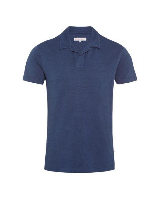 Orlebar Brown - Blue Felix Slub Navy Resort Polo for Men - Lyst