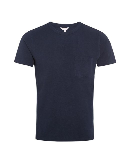 Orlebar Brown - Blue Sammy Heavyweight Navy Classic-fit T-shirt for Men - Lyst
