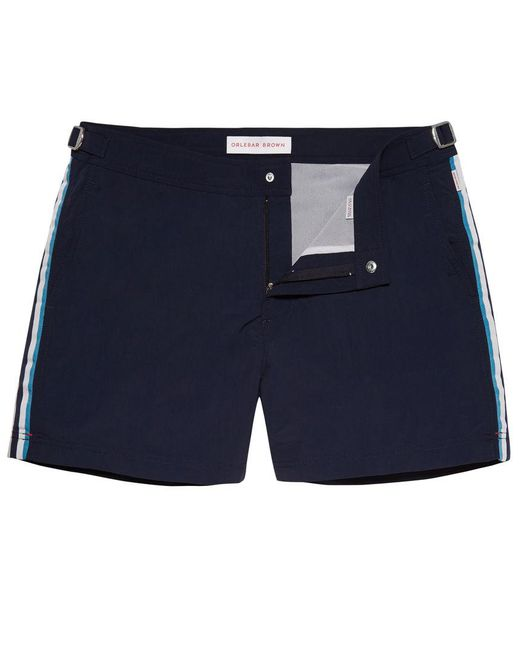 Orlebar Brown - Blue Setter Vintage-sportbadeshorts In Navy/weiß/riviera for Men - Lyst