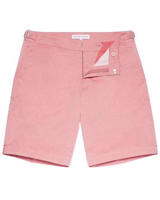 Orlebar Brown - Pink Dane Two Tone Lange Shorts In Raspberry for Men - Lyst