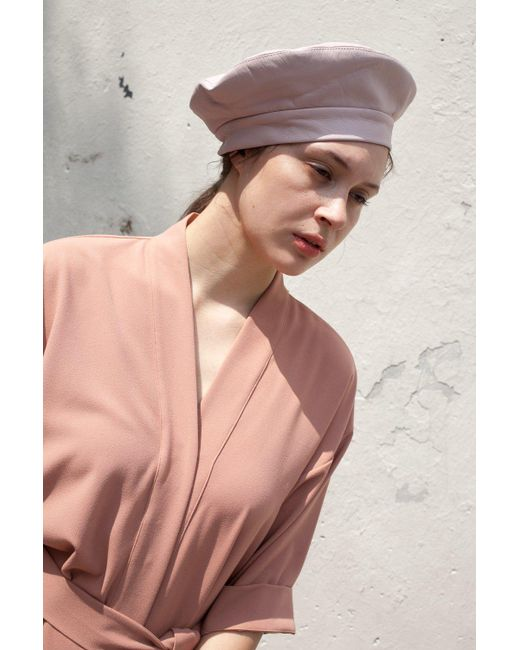 Clyde | Multicolor Lambskin Beret In Peony | Lyst