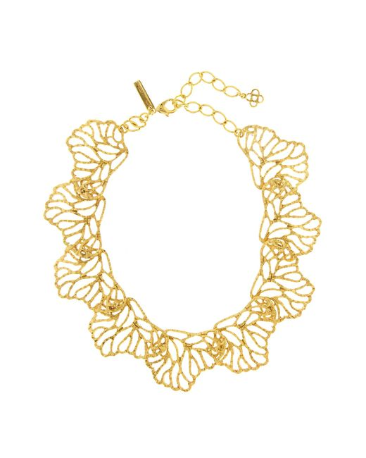 Oscar de la Renta - Metallic Coral Branch Necklace - Lyst