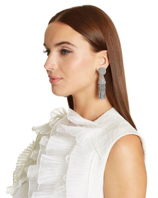 Oscar de la Renta - Metallic Classic Short Tassel Earrings - Lyst