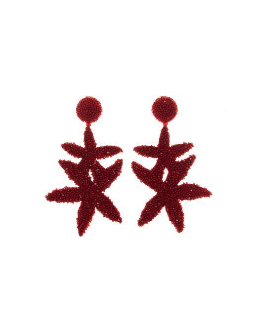 Oscar de la Renta - Red Gold Double Starfish Earrings - Lyst