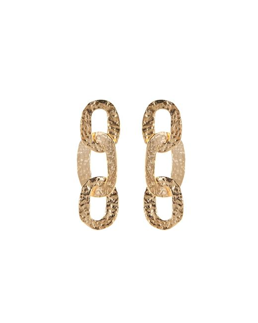 Oscar de la Renta | Metallic Hammered Chain Link Earrings | Lyst