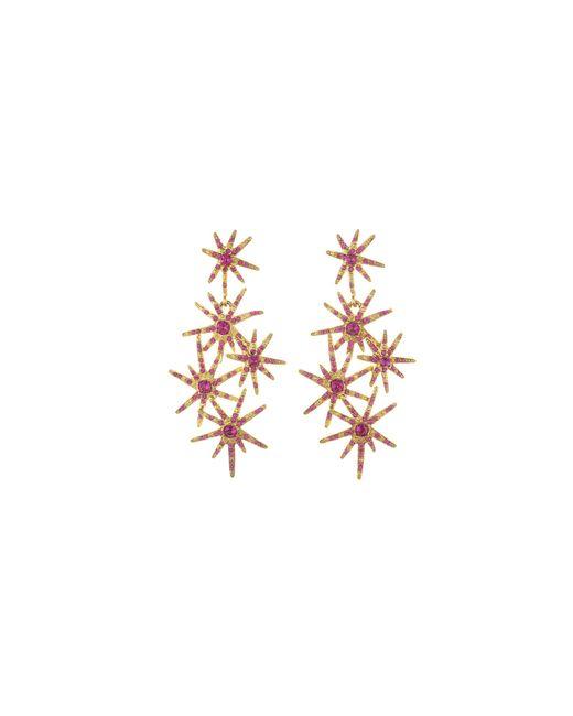 Oscar de la Renta   Multicolor Crystal Fireworks Earrings   Lyst