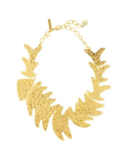 Oscar de la Renta - Metallic Hammered Fish Necklace - Lyst