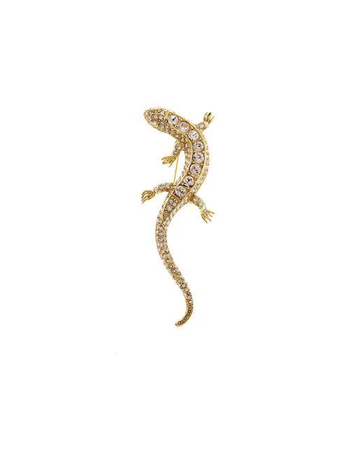 Oscar de la Renta - Metallic Lizard Brooch - Lyst