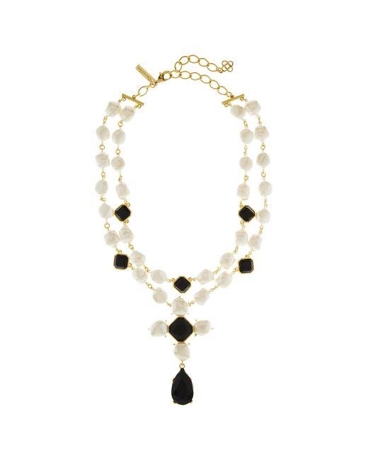 Oscar de la Renta - Metallic Baroque Pearl Necklace - Lyst