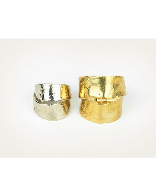 Mor | Metallic Chunky Gold Ring L | Lyst