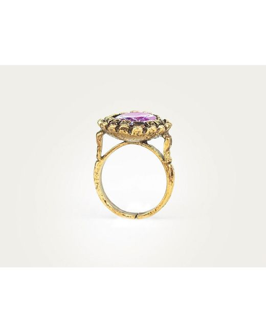Mor | Purple Lilac Quartz Ring | Lyst