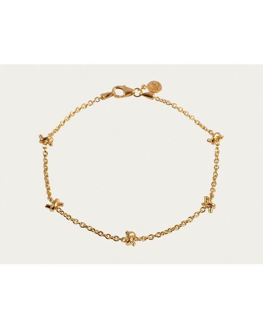 Davina Combe | Metallic Gold Knot Bracelet | Lyst