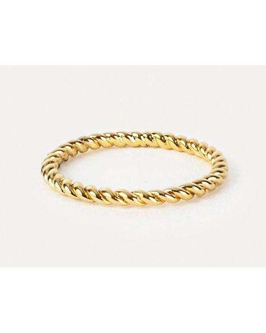 Davina Combe | Metallic Gold Twist Ring | Lyst