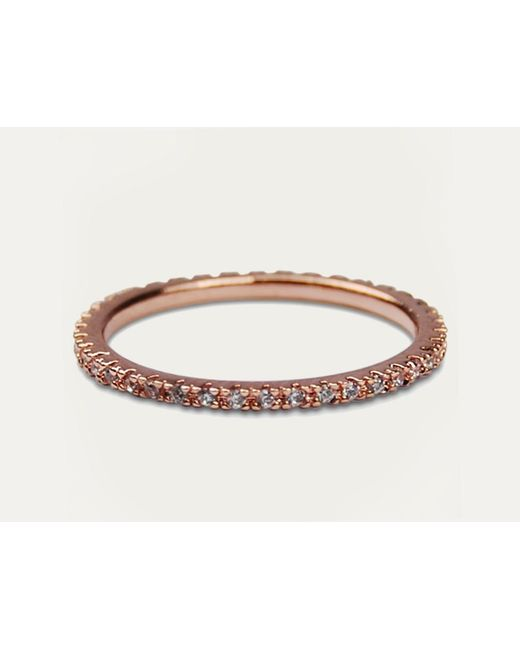 Astrid & Miyu | Pink The Perfect One Ring In Rose Gold | Lyst