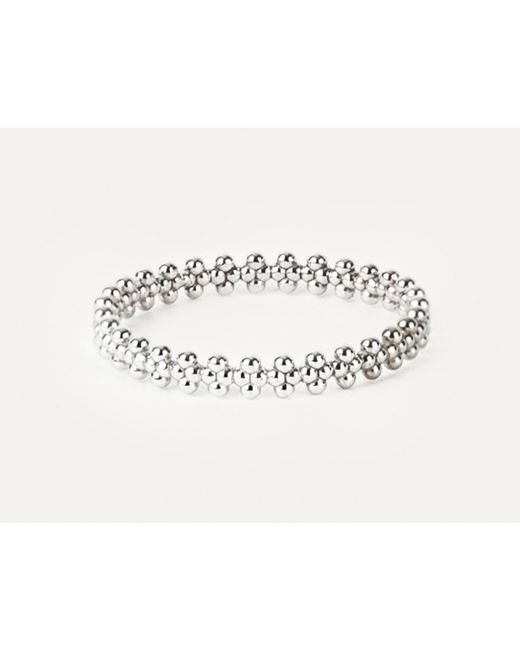 Grace Lee   Beaded Crown Ring In White Gold   Lyst