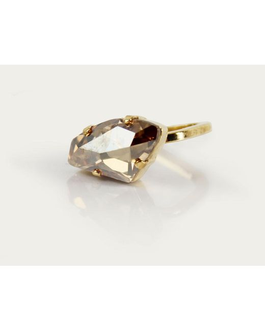 Sabrina Dehoff | Metallic Leo Crystal Rock Ring | Lyst