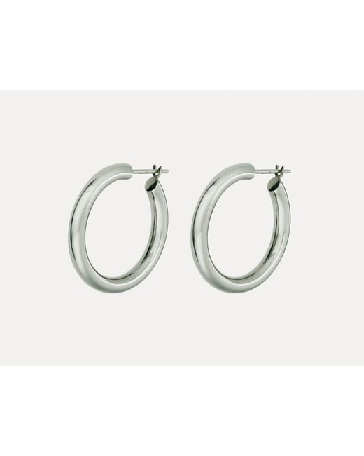 Otiumberg | Metallic Chunky Hoops Silver | Lyst