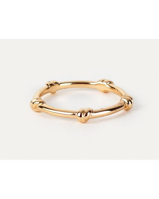 Davina Combe | Pink Rose Gold Knot Ring | Lyst