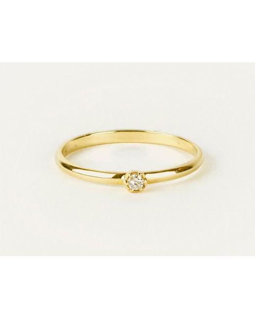 Zoe & Morgan | Metallic Hexagon Diamond Ring | Lyst