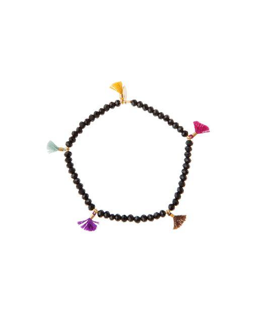 Shashi | Black Crystal Lilu Bracelet | Lyst