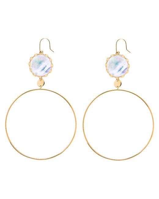 Lana Jewelry | Metallic Blanca Mother Of Pearl Earrings | Lyst