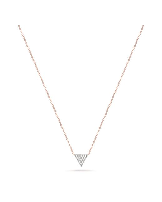 Dana Rebecca | Pink Emily Triangle Necklace | Lyst