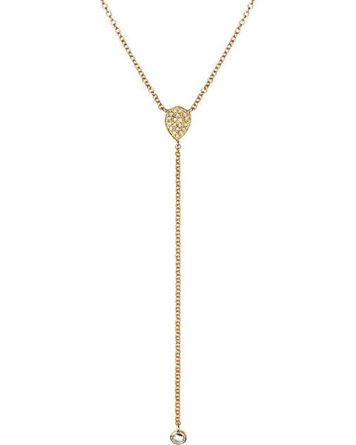 EF Collection | Yellow Diamond Tear Drop Necklace | Lyst