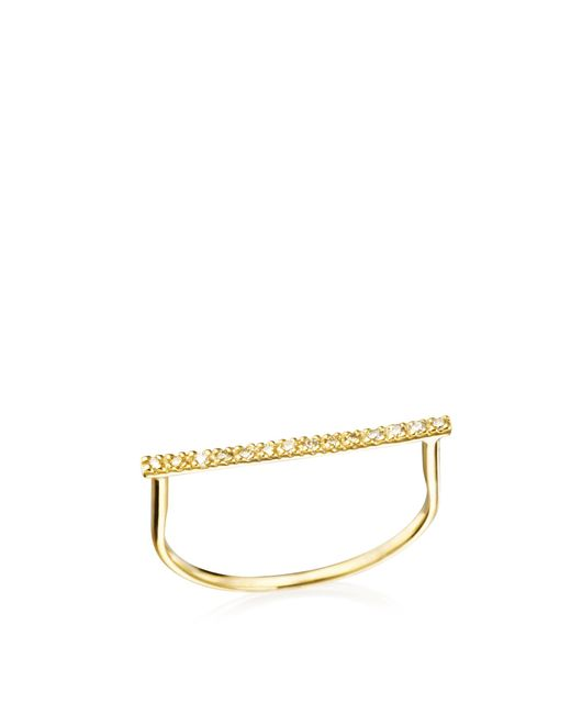 Hirotaka | Metallic Diamond Bar U-ring | Lyst