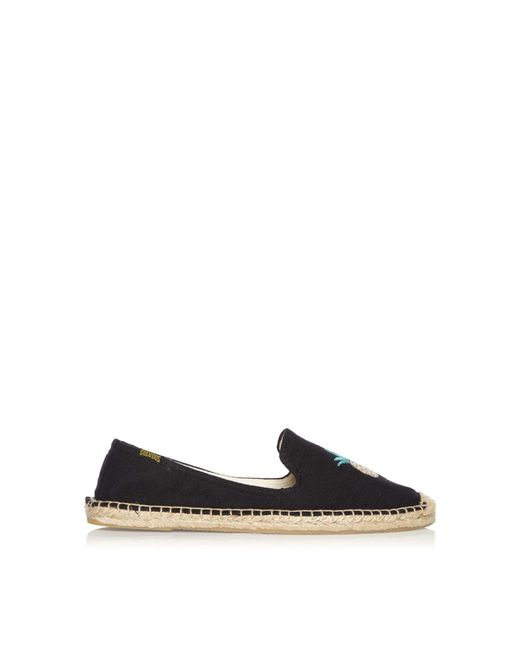 Soludos | Black Pineapple Smoking Slipper Espadrilles | Lyst