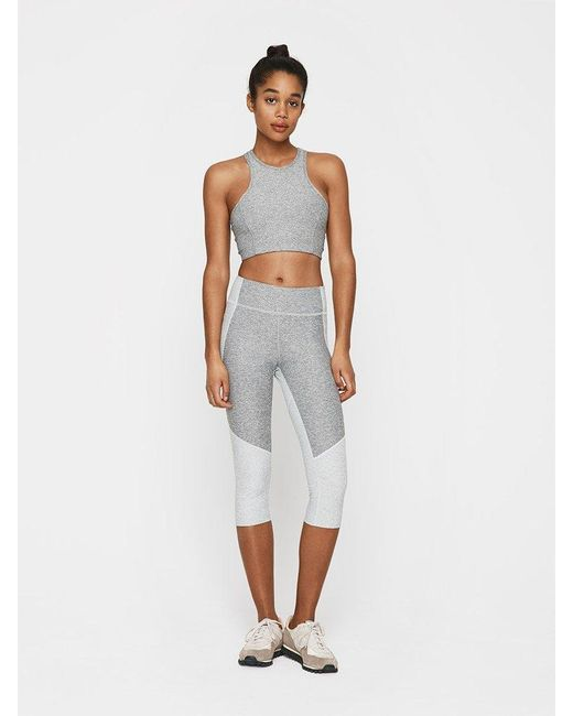Outdoor Voices | Gray Two-tone Kneecap Legging | Lyst
