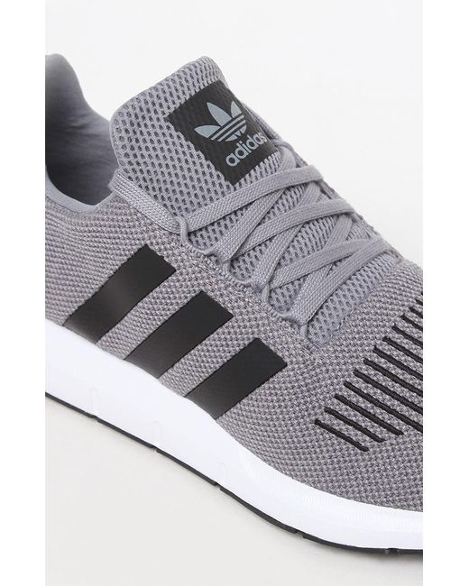 187799a66 Lyst - Adidas Swift Run Grey   Black Shoes in Gray for Men