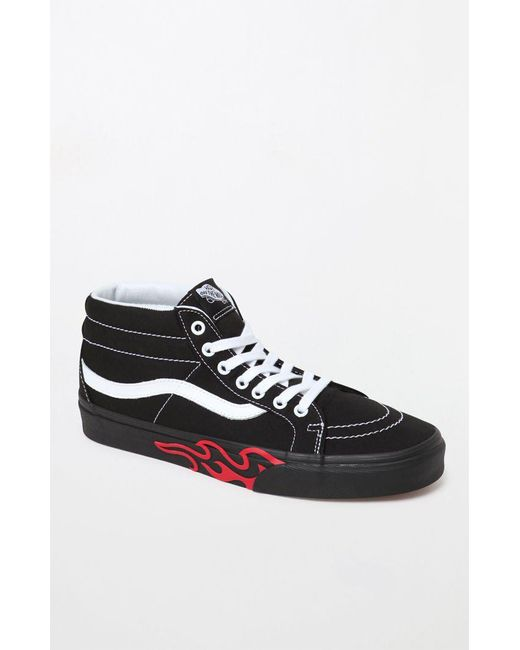 Lyst - Vans Sk8-mid Flame Cut Out in Black for Men - Save 75% ac0459078