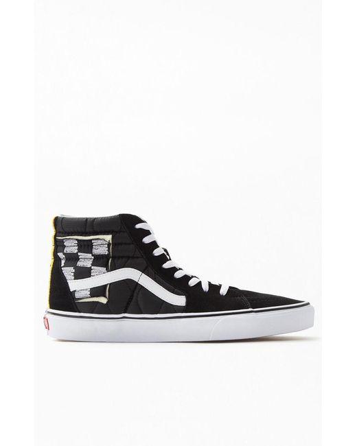 ... Vans - Black Mixed Quilting Sk8-hi Shoes for Men - Lyst ...